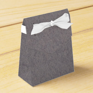 Favor gift box with natural grey felt textiles