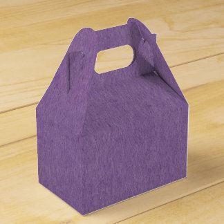 Favor gift box with natural purple felt textiles