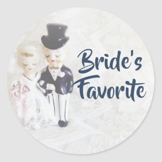 Favor Stickers- Bride's Favorite Cute Couple Classic Round Sticker