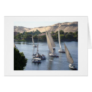 Favorable, Windy, Boat Sailing Card