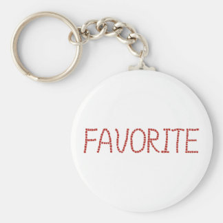 Favorite Basic Button Keychain