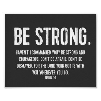 Favorite Bible Verse Poster, Christian, Be Strong Poster