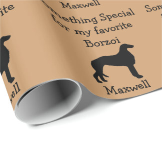 Favorite Borzoi Custom Wrapping Paper