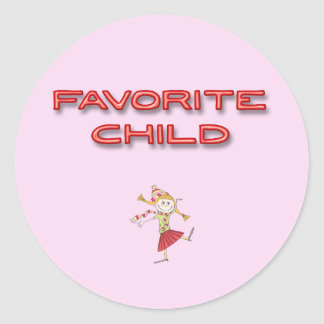 Favorite Child Classic Round Sticker