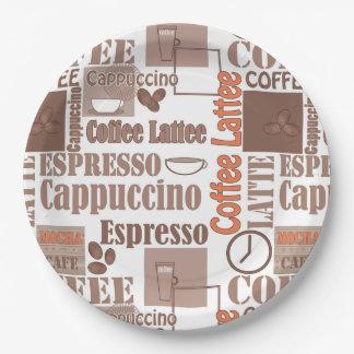 Favorite coffee paper plate