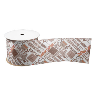 Favorite coffee satin ribbon
