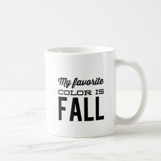 Favorite Color is Fall Coffee Mug