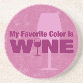 Favorite Color Is Wine Coaster