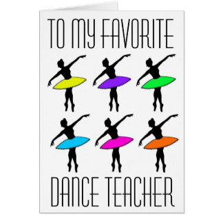 Favorite Dance Teacher Ballet Recital Thank You Card