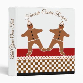 Favorite Gingerbread Man Cookie Christmas Recipes Vinyl Binders