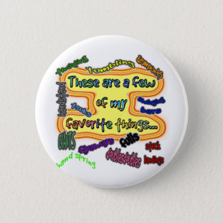 Favorite Gymnastics Things 2 Inch Round Button