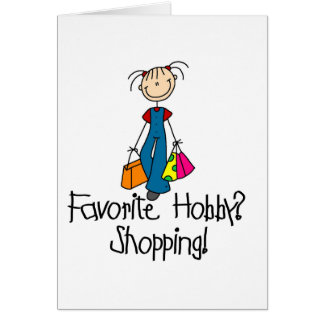 Favorite Hobby Shopping Card