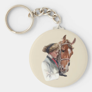 Favorite Horse Basic Round Button Keychain