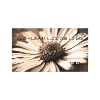 Favorite Inspirational Quote- Flower Background Canvas Print