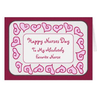 Favorite Nurse Happy Nurses Day Customizable Card