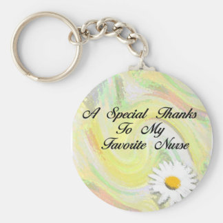 Favorite Nurse Basic Round Button Keychain