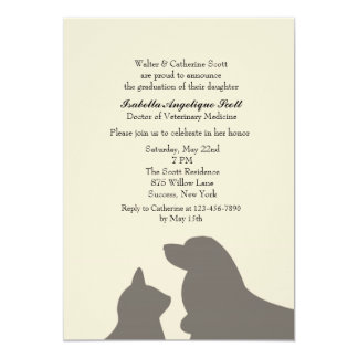Favorite Pets Veterinary School Graduation Card