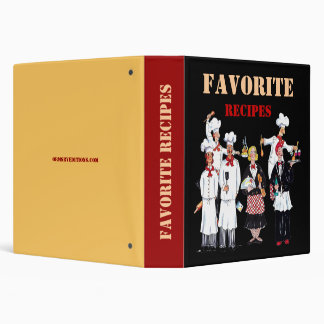 Favorite Recipes, binder