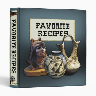 Favorite Recipes - Native American theme Vinyl Binder