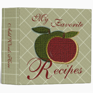 Favorite Recipes (textured apples) 3 Ring Binder