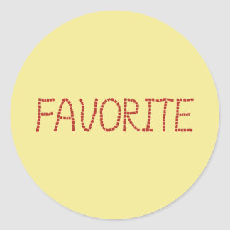 Favorite Small Glossy Round Sticker
