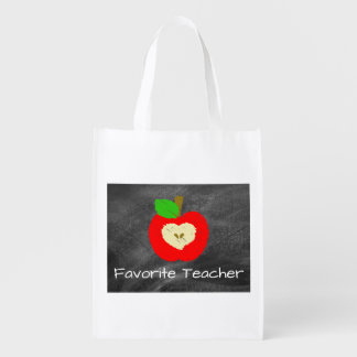 Favorite Teacher Chalkboard Reuseable Grocery Bag