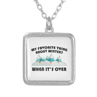 Favorite Thing About Winter Silver Plated Necklace