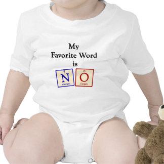Favorite word is NO - Chemistry Geek Baby Tshirts