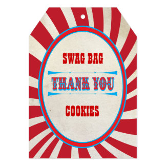 Favors bag tags thank you swag bags card