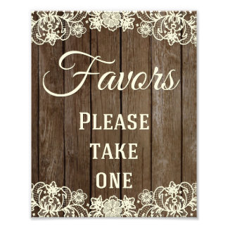Favors Sign, Wedding Sign, Wedding Decor Photo