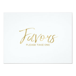 """Favors"" Wedding Sign 