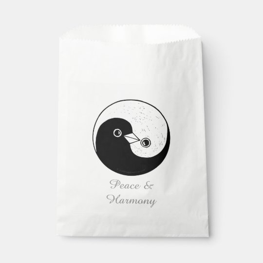 Favour Bags YinYang Dove Harmomy