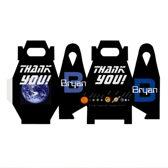Favour Box Planets, Outer Space, Earth Party Favor Boxes