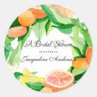 Favour Envelope Seal Citrus Wedding Bridal Shower