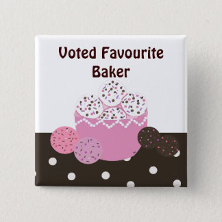Favourite Baker 2 Inch Square Button