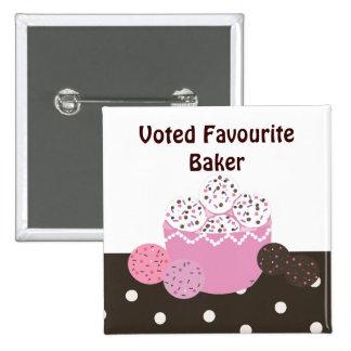 Favourite Baker 2 Inch Square Button