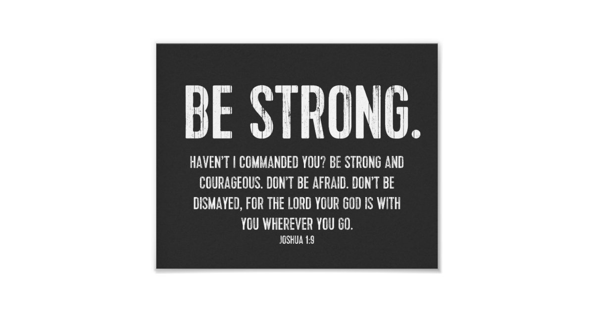 favourite bible verse poster christian be strong poster zazzle ca