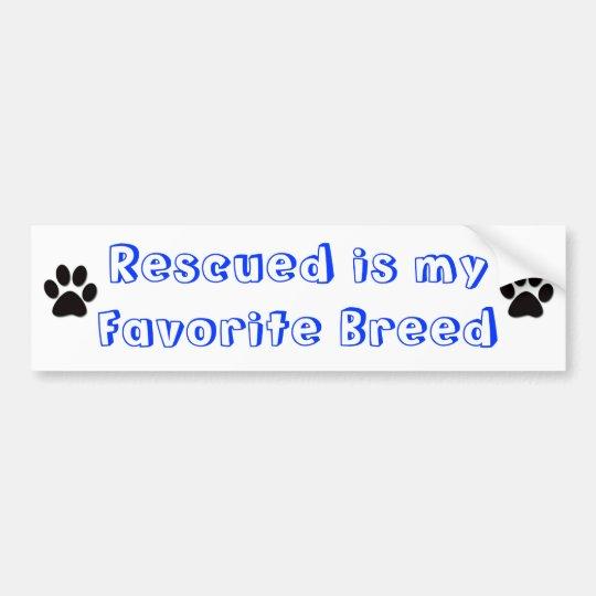 Favourite breed bumper sticker