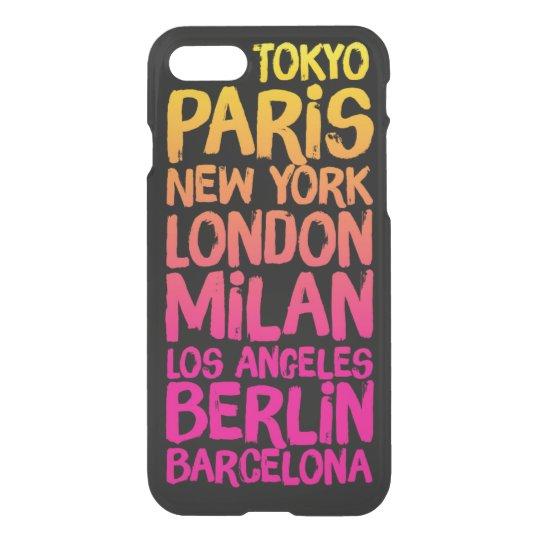 Favourite Cities Neon iPhone 7 Case
