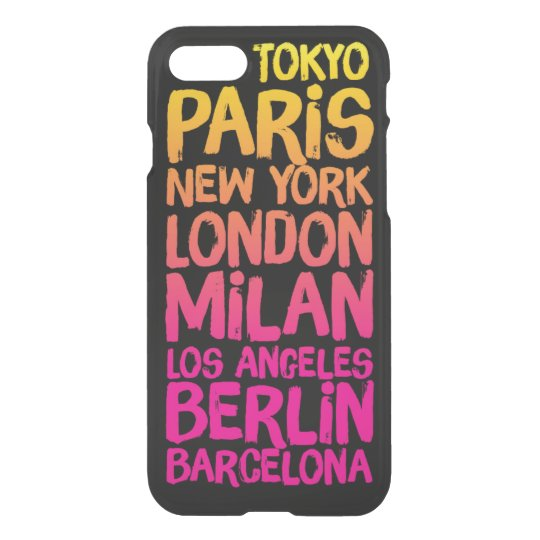 Favourite Cities Neon iPhone 8/7 Case