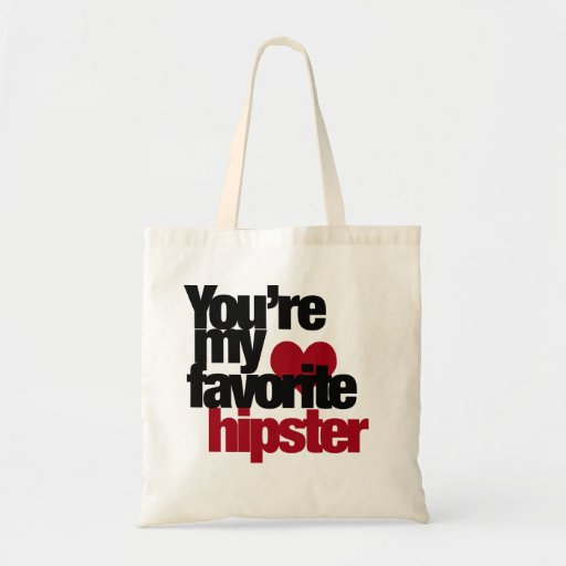 Favourite Hipster Budget Tote Bag