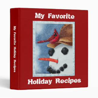 Favourite Holiday Recipes - Binder