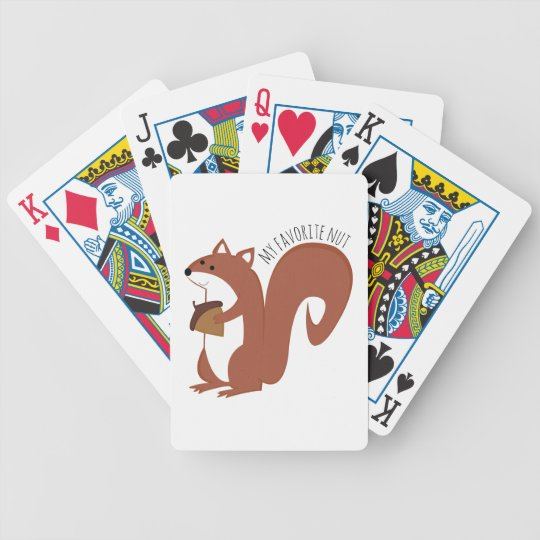 Favourite Nut Bicycle Playing Cards