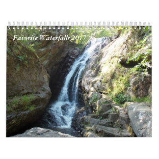 Favourite Waterfalls 2017 Wall Calendars