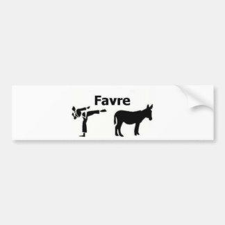 Favre Kicks A** Bumper Sticker