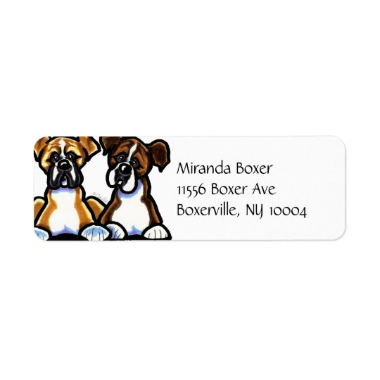 Fawn and Brindle Boxer Simple
