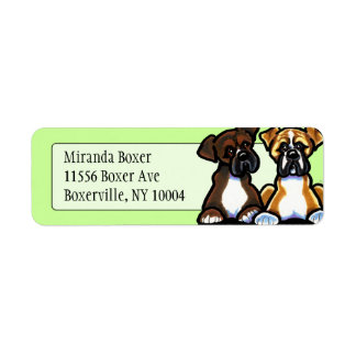 Fawn and Dark Brindle Boxer Studio Mint