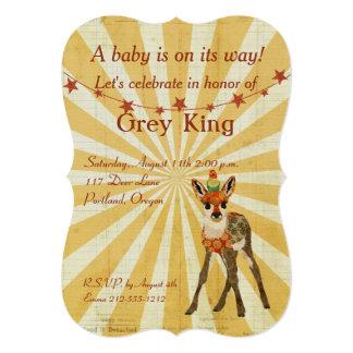 Fawn & Bird Baby Invitation