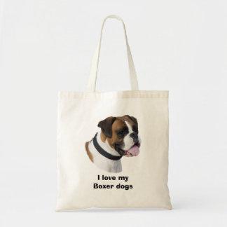 Fawn Boxer dog photo portrait Canvas Bag