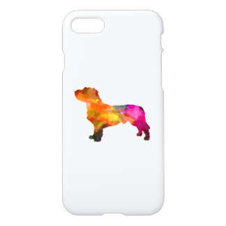 Fawn Brittany Basset in watercolor iPhone 8/7 Case